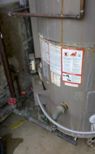 Leaking water heater commerical SM